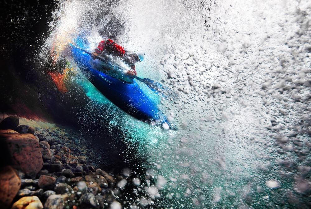 River Kayak Underwater copyright Thomas Morel