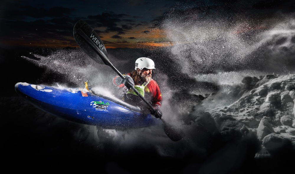 Snow Kayak copyright Thomas Morel